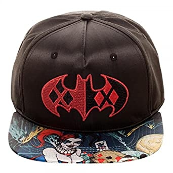 df25937729705 Image Unavailable. Image not available for. Color  Bioworld Batman Harley  Quinn Satin Snapback
