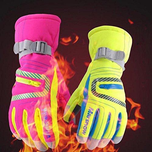 AngelicaAPCA Winter Warm Kids Ski Gloves Children Snowboard Gloves Waterproof Windproof, 1 Pair