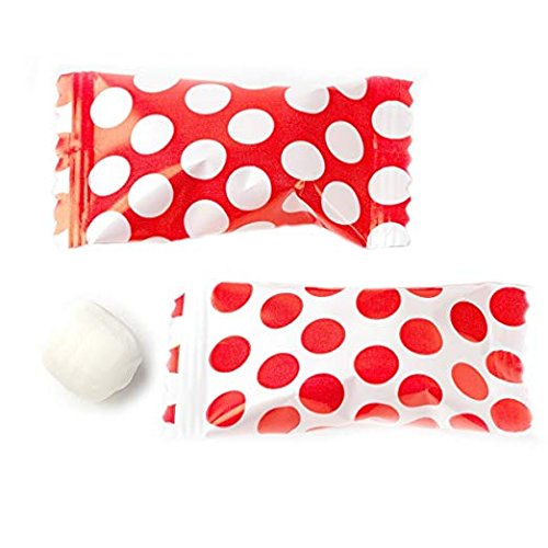Buttermint Creams - Buttermints 100 Count Wrapped in Red Polka Dot Candy Wrapper - Mint Candy for Giveaways and Trade Shows