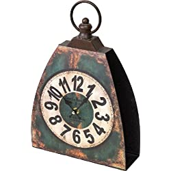 Manual Woodworkers and Weavers The Shed Collection Kettle Bell Clock, 12.65-Inch, Green