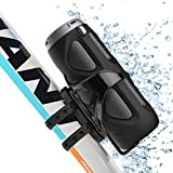 Avantree Portable Bluetooth Bike Speaker with Bicycle Mount & SD Card Slot, 10W Powerful Enhanced Bass & Wireless NFC Pairing, Splash proof, Shockproof & Dustproof for Riding, Outdoor