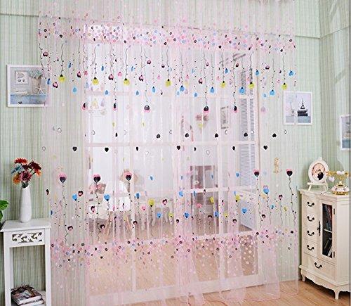 Pureaqu Beautiful Window Treatments Sheer Curtain for Kids