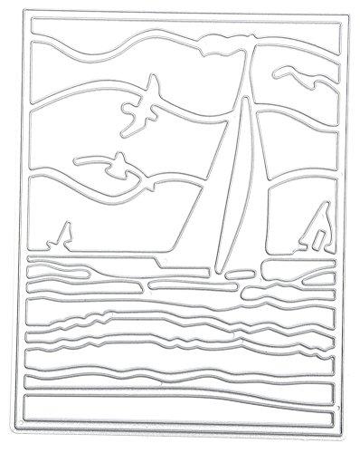 (キッズ ハウス)KIDS HOUSE 風に乗り波を切って進む 抜き紙カード Scrapbooking エンボステンプレート ペーパーエンボスの商品画像