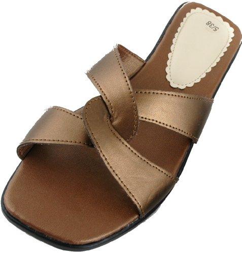 Sandales bronze femme pour 40 Brands Or KS zgq5x5