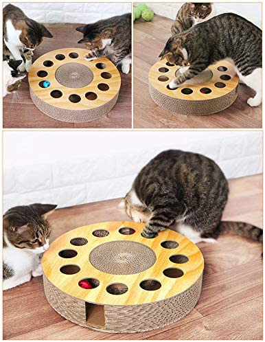MIAOXSEN Cat Toy with Sturdy Scratching Pads and 2 Jingly Balls for All Ages of Cats 2