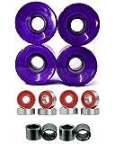 Everland Eskape 60mm Wheels w/Bearings & Spacers (Clear Purple)