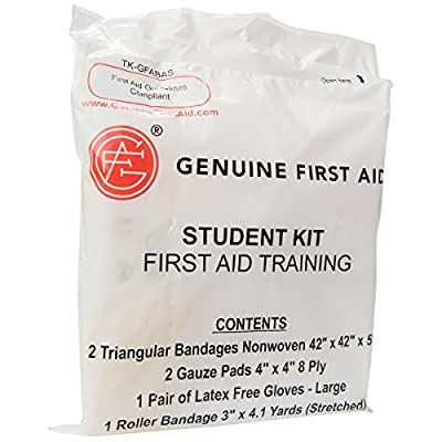 Genuine First Aid Student Basic Training Kit (Pack of 100) from Adventure Medical Kits