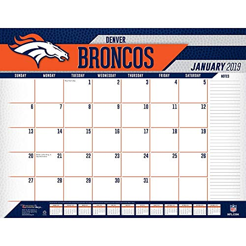 (Turner Licensing Denver Broncos 2019 Desk Calendar (19998061535))