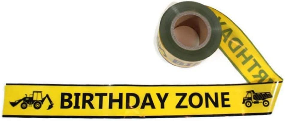 "TorxGear Kids Birthday Zone Party Tape! - 300 Foot Roll, 3"" Wide, Yellow and Black - Caution, Birthday Tape - Construction Grade Quality"