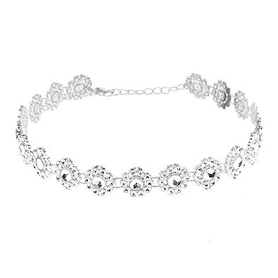 Necklace, Bestow Women Wedding Jewelry Double layer Full Diamond Crystal Rhinestone Choker Necklace