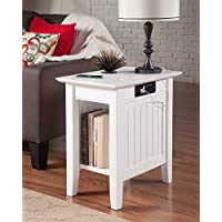Atlantic Furniture AH13312 Nantucket Side Table Rubberwood, White