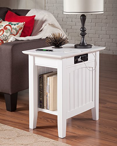 Atlantic Furniture AH13312 Nantucket Side Table Rubberwood, - Outlets Atlantic