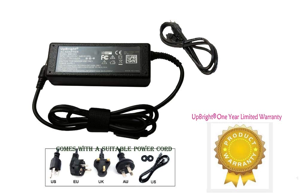 Fincos AC/DC Adapter for Zebra LP3844-Z 120793-001 384Z-20400-0001 Direct Thermal Barcode Label Printer Power Supply