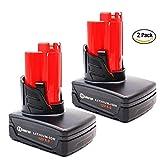 SANFUP 12V 6.0A for Milwaukee M12 Battery 48-11-2440 48-11-2402...