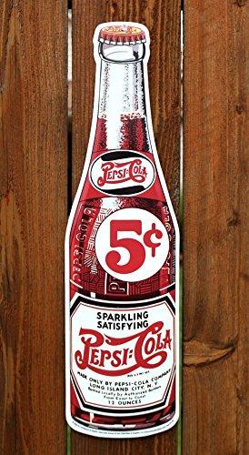 (Sparkling, Satisfying Pepsi-Cola Bottle Tin Signs 15x56cm)