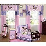 Sweet Jojo Designs 5-Piece Pretty Pony Horse Toddler Bedding Girls Set