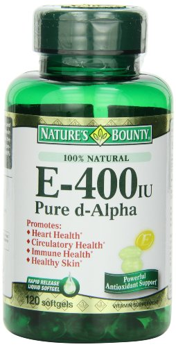 Nature's Bounty E-400 Iu Natural Pure D-alpha, 120 Softgels