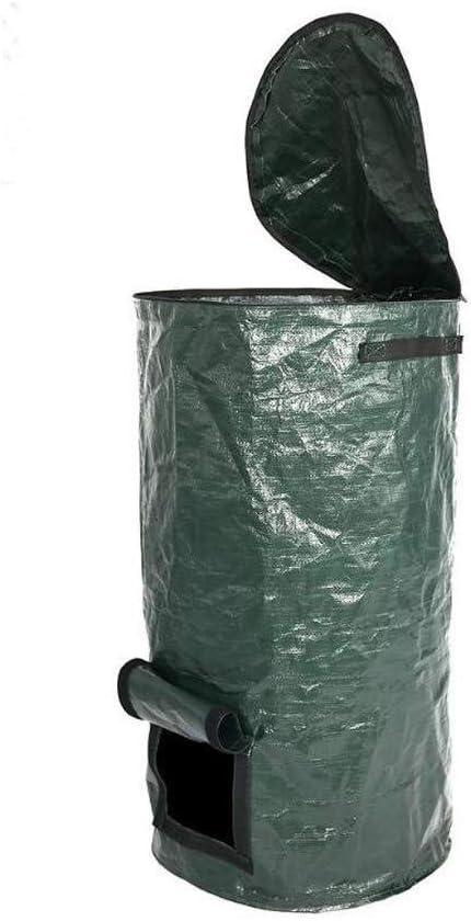 SHENMU Bolsas compostables abono orgánico Ambiental Bolsa, Jardín Compost Bolsa, Jardín Plegable Bote de Basura, Compost PE Bolsa: Amazon.es: Hogar