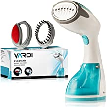 Powerful Handheld Fabric Steamer Vardi FubSteam |Steam Clothing without Harming | Portable Hand Held Steamers | Risk Free Ironing Full Hot Vapor Power | Auto Shut Off | Compact Size for Home or Travel
