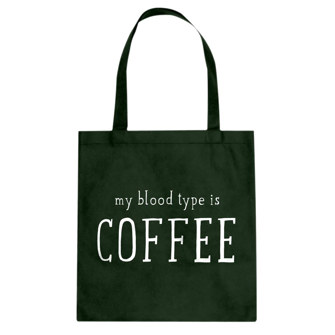Indica Plateau My Blood Type is Coffee Cotton Canvas Tote Bag