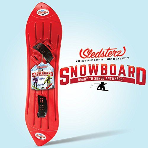 Geospace The Original Sledsterz Snowboard Assorted Colors, Snow Sled (Red, Green, or Blue)