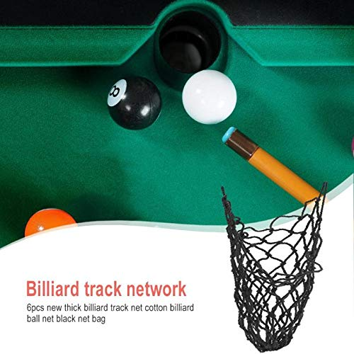 Car accessories - 6pcs Durable Cotton Billiard Pool Table Cotton Mesh Net Thread Bags Pockets Replacement Club Accessory White ()
