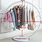 NYDZ Circular Standing Coat Rack Clothes Hat, Iron Wrought Hook Up Hanging Rack Creative Hanger Clothing Store Display Stand