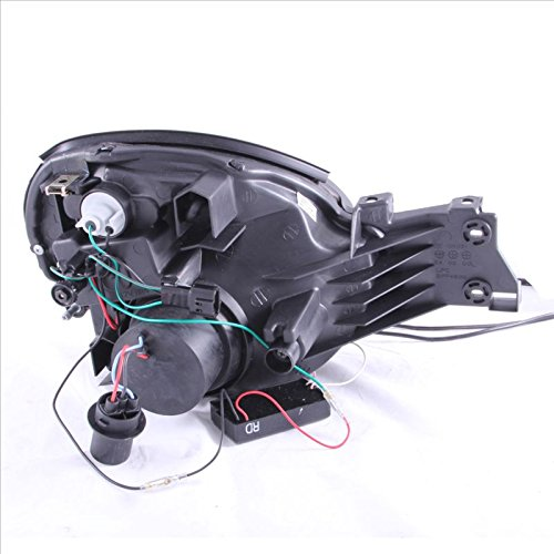 SPPC Projector Headlights Halo Black (CCFL) For Subaru Impreza - Passenger and Driver Side