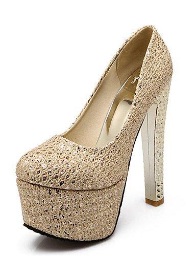 GGX/ los zapatos de las mujeres del brillo / materiales personalizados de primavera / invierno talones / plataforma / bomba / heelsparty punta , golden-us10.5 / eu42 / uk8.5 / cn43 , golden-us10.5 / e golden-us8.5 / eu39 / uk6.5 / cn40
