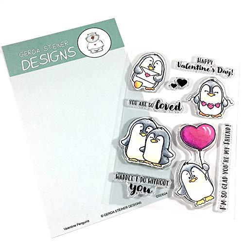 - Valentine Penguins 4x6 Clear Stamp Set