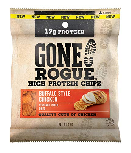 Gone Rogue High Protein Buffalo Style Chicken Chips, Low Carb, Gluten Free Snacks, 8 - Chicken Buffalo
