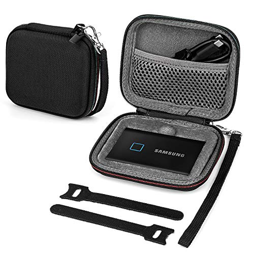 Fromsky Case for Samsung T7/ T7 Touch Portable SSD 500GB 1TB 2TB, Travel Carry Case Protective Cover (for One SSD)