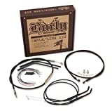 Burly Brand Braided Stainless 14'' Ape Hanger Cable/Brake/Wiring Kit w/ ABS B30-1127