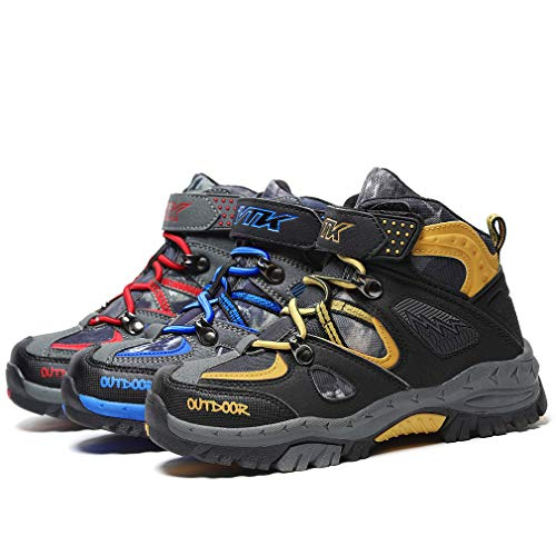 Pictures of AShion Kids Hiking Shoes Walking Boots Antiskid 2