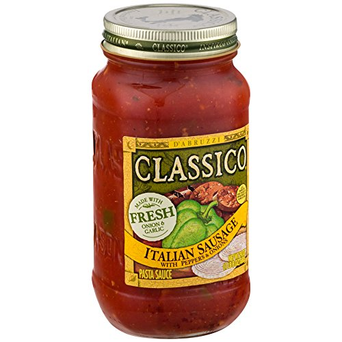 Classico Italian Sausage Peppers and Onions Tomato Sauce, 24 Ounce