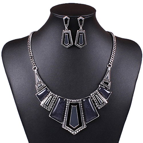 D B MOOD Geometric Tribal Necklace Earrings product image