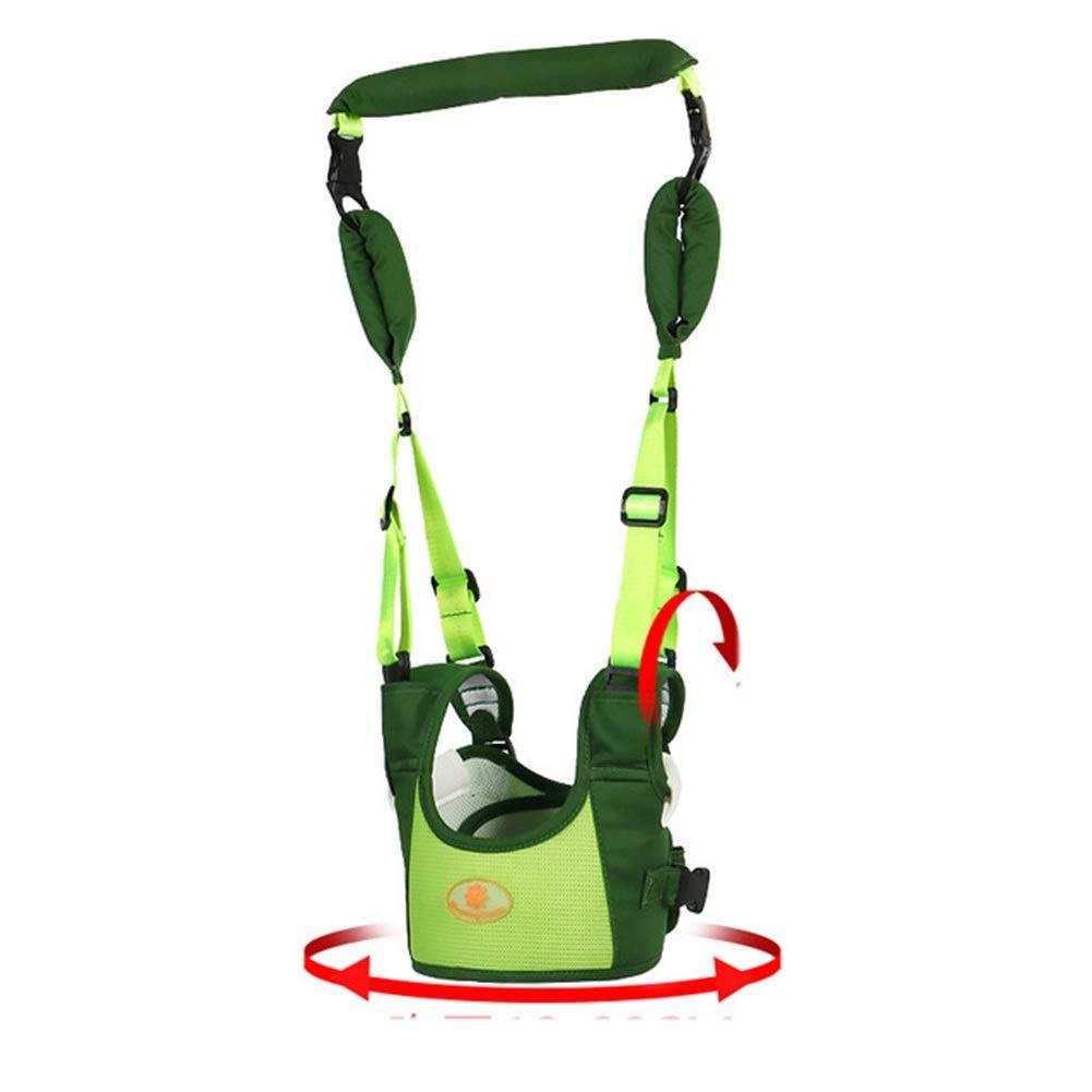 Toddler Soundable Walking Safety Harness, Adjustable Kids Walking Rein Leash Strap Belt Keeper - 48-70cm - Blue/Green (Color : Green)