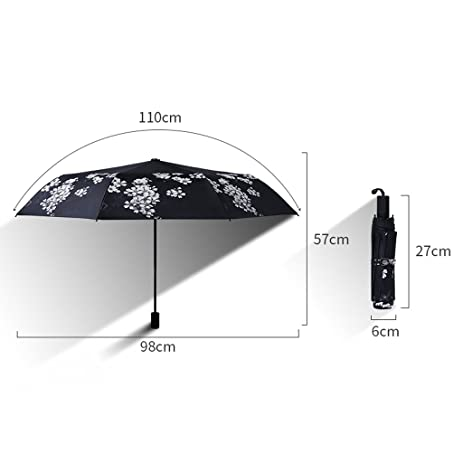 Amazon.com: Edge to Cereza Paraguas Plegable Paraguas De Sol Femenino Versión Coreana De Doble Uso Protector Solar UV Paraguas: Sports & Outdoors