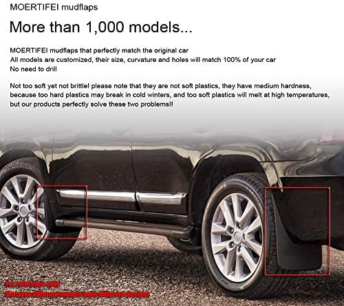 MOERTIFEI Car Mudguard Fender Mud Flaps Splash Guard Kit fit for Toyota RAV4 2013 2014 2015