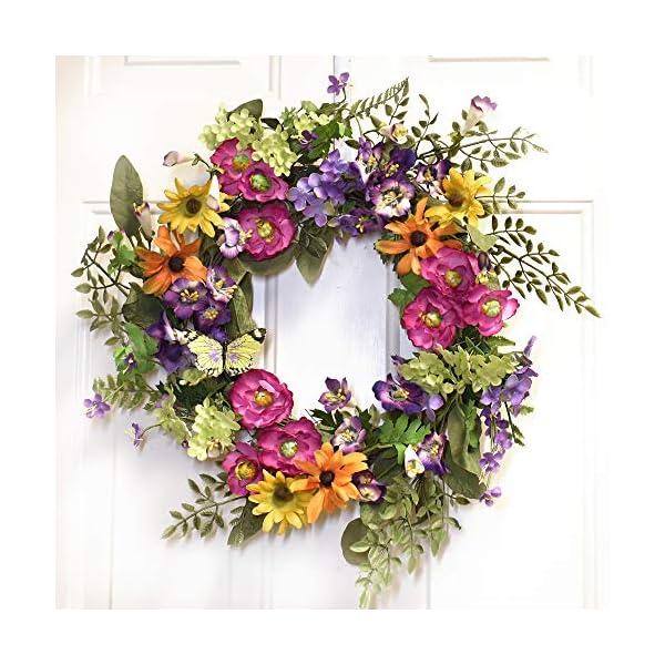 Summers Glory Silk Flower Wreath