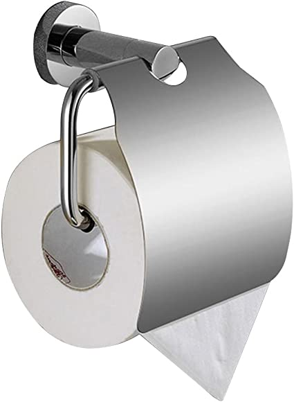 Titang - Portarrollos de papel higiénico con tapa, de acero ...