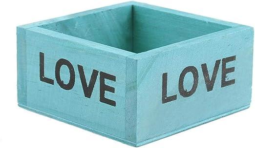 Macetero de madera, caja cuadrada de madera para plantas ...