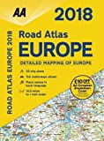 img - for 2018 Road Atlas Europe (Spiral-bound) (AA Road Atlas Europe) book / textbook / text book