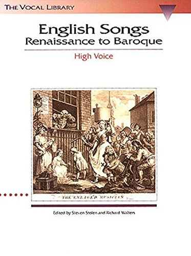 English Songs: Renaissance to Baroque: The Vocal Library High Voice ()