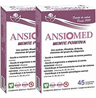Bioserum - Pack Ahorro 2 x Ansiomed Mente positiva 2 x 45 Cápsulas (Total 90