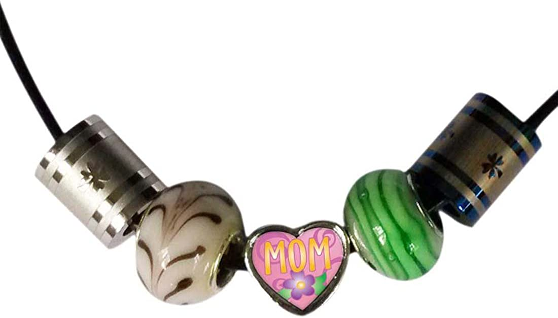 GiftJewelryShop Silver Plated November Yellow Tulip and Mom Photo Heart Bead Charm Bracelets