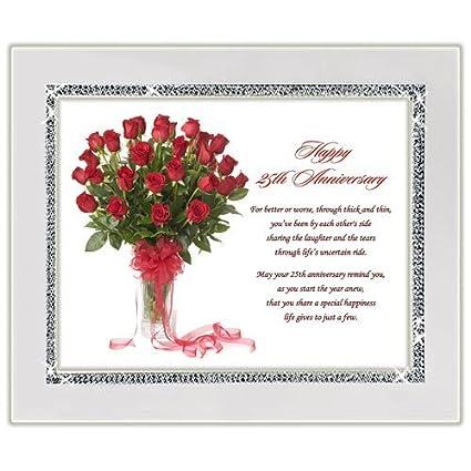 amazon com 25th wedding anniversary gift congratulations poem