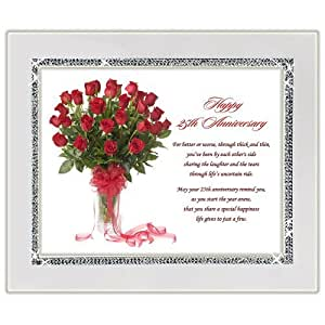 Wedding Gift Poem For Home Improvements : Amazon.com25th Wedding Anniversary GiftCongratulations Poem Gift ...