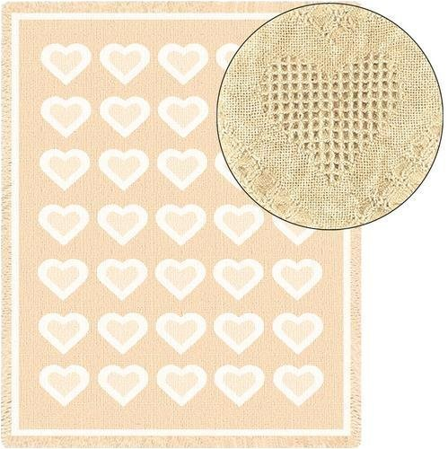 Basketweave Natural Mini 35 x 48 Blanket//Throw