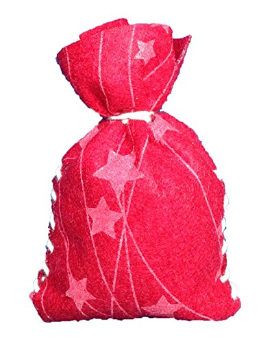 Petra's Craft Felt Advent Calendar Star News Sewing Kit 24 x Bags Pre from Felt Pieces, Band, Darning & Instructions, Fliz, Red, 25 x 18 x 5 cm